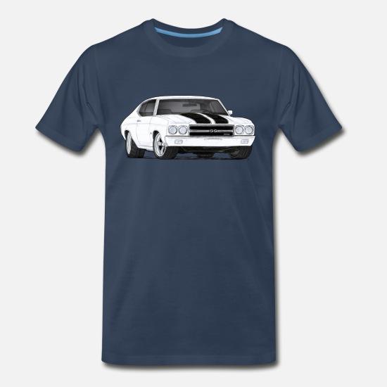 9cff4139 1970 T-Shirts - 70 Chevelle - Men's Premium T-Shirt navy