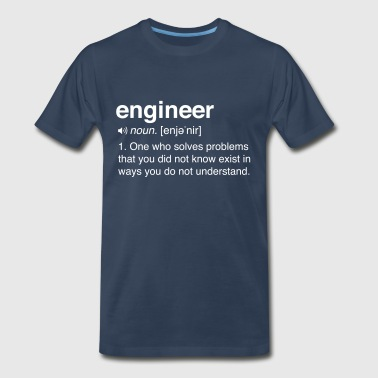 Funny Engineer Definition - Men's Premium T-Shirt