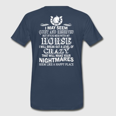 MESS WITH MY HORSE - Men's Premium T-Shirt