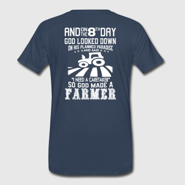 GOD CREATED FARMER - Men's Premium T-Shirt