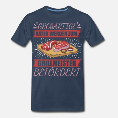 Grilled Meat barbecue meat bbq garden party barbecue gift - Men's Premium T-Shirt