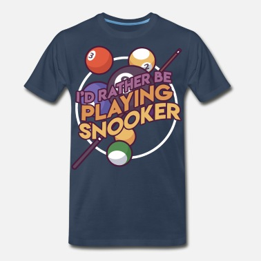 Stick Billard Billards Games Pool Gift Idea - Men's Premium T-Shirt