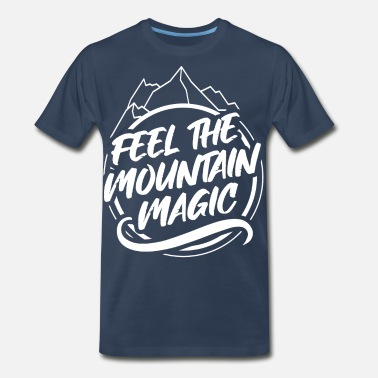 Backpack Hike Outdoor Hiking Mountains Travel Backpacking - Men's Premium T-Shirt