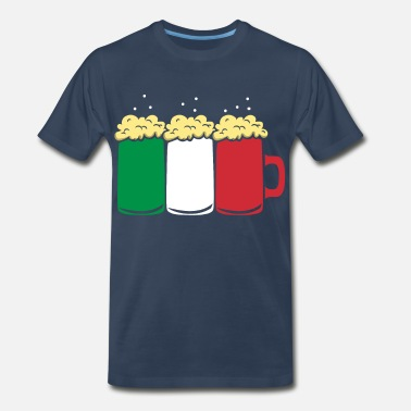 Motivation Italy Flag Country Beer Brew Gift - Men's Premium T-Shirt
