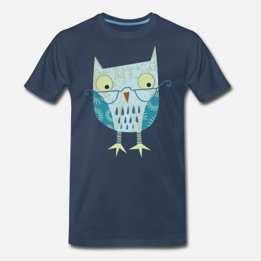 Wise Owl Spectacled Owl - Men's Premium T-Shirt