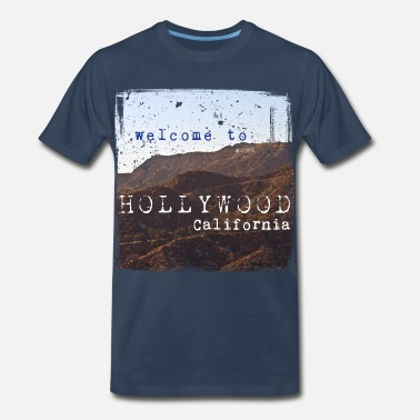 Longboard Welcome to Hollywood Vintage - Men's Premium T-Shirt