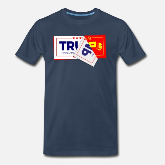 Think T-Shirts - Vote Putin Trump 2020 Election print - Men's Premium T-Shirt navy