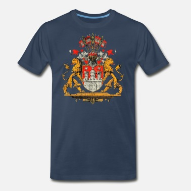 German Clothing Hamburg product Deutschland Wappen German designs - Men's Premium T-Shirt