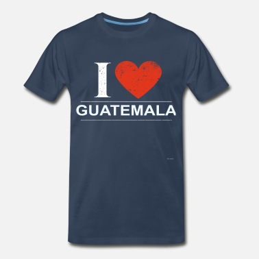 Guatemala Flag I Love Guatemala - Men's Premium T-Shirt