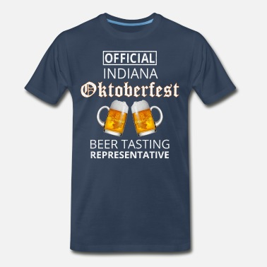 Hoosier Hoosiers Official Hoosier Oktoberfest Beer Taster - Men's Premium T-Shirt
