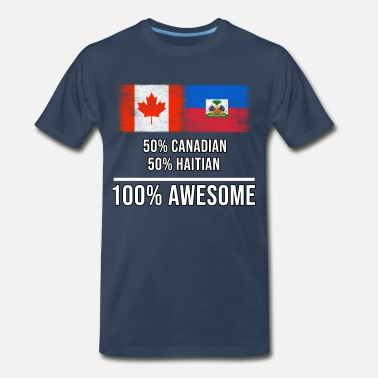 50s 50% Canadian 50% Haitian 100% Awesome - Men's Premium T-Shirt