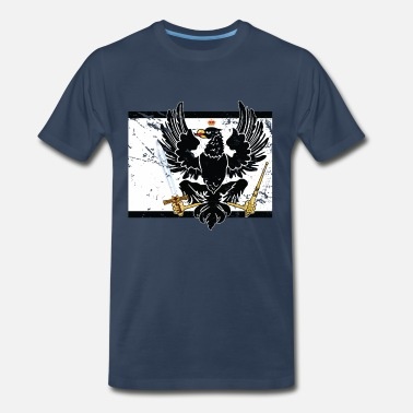 Prussia Prussia flag with coat of arms - Men's Premium T-Shirt