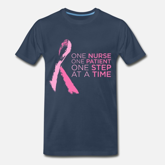 Breast T-Shirts - Breast Cancer Awareness - Men's Premium T-Shirt navy