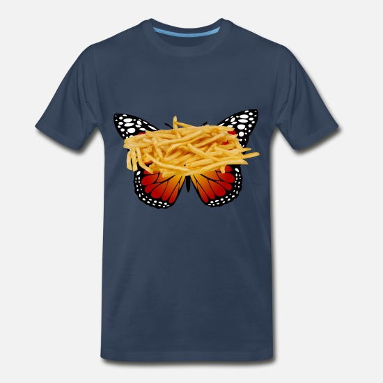 Ease T-Shirts - French fries - Men's Premium T-Shirt navy