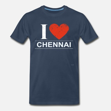India Flag I Love Chennai - Men's Premium T-Shirt