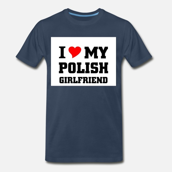 Funny Men/'s T-Shirt and Mug Set I LOVE MY POLISH GIRLFRIEND Gift Poland