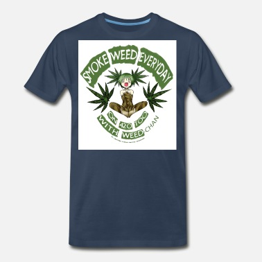 Animal Lover Weed / Cannabis / 420 + Anime lover Gear - Men's Premium T-Shirt