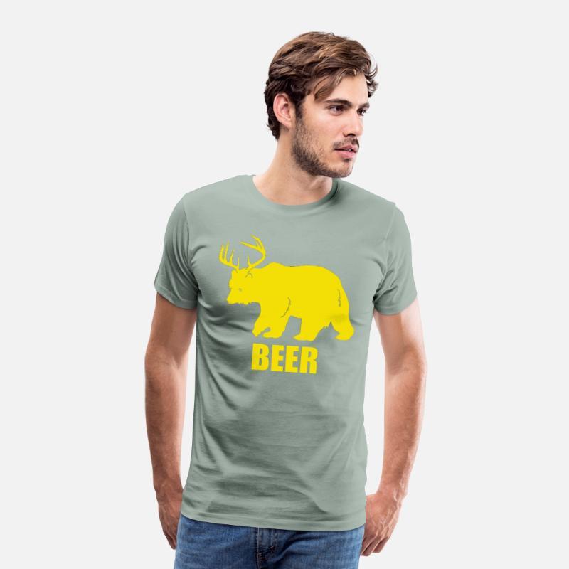 BEER BEAR DEER MENS T SHIRT NEW QUALITY PREMIUM FUNNY DESIGN BIGGER SIZE S-5XL