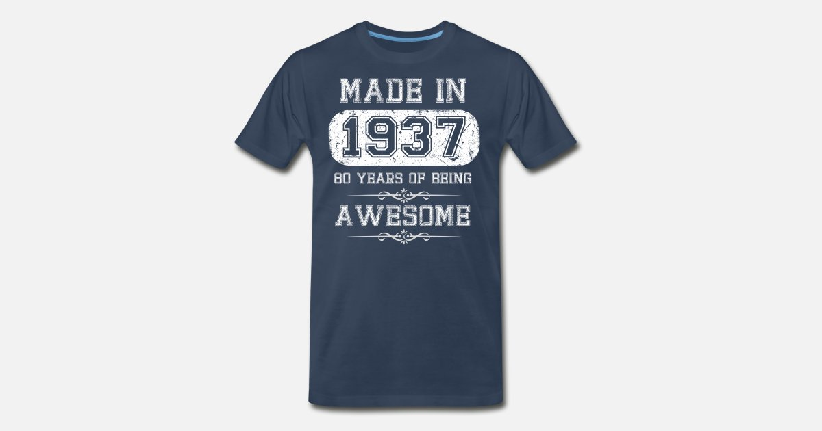 Mens Premium T Shirt80th Birthday Shirts