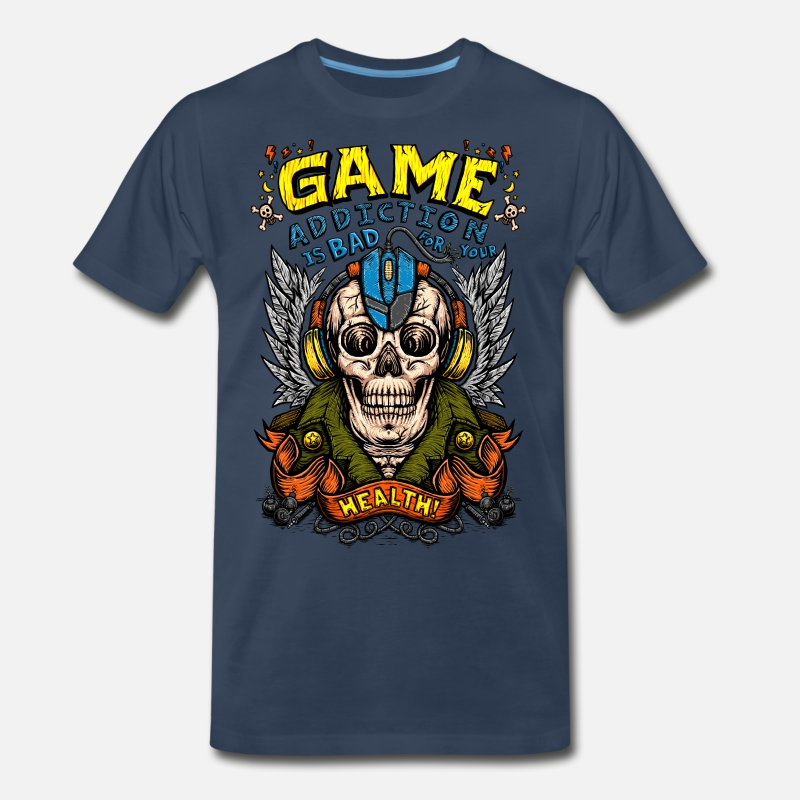 Game T-Shirts - game addiction - Men's Premium T-Shirt navy