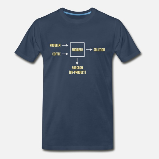 Computer T-Shirts - Engineering Sarcasm By-product - Men's Premium T-Shirt navy