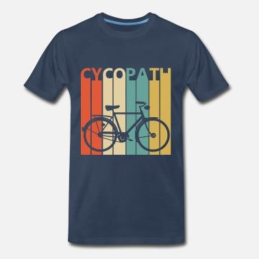 07bf1834 Funny Vintage Cycopath Bicycle - Men's Premium T-Shirt