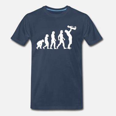 Evolution Dad with Boy - Men's Premium T-Shirt