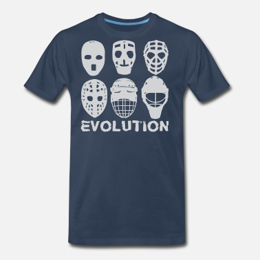 Goalie hockey goalie mask evolution - Men's Premium T-Shirt
