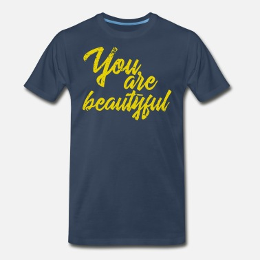 Good Vibes You are beautyful Vintage - Men's Premium T-Shirt