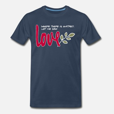 Let me sow love (dark) - Men's Premium T-Shirt