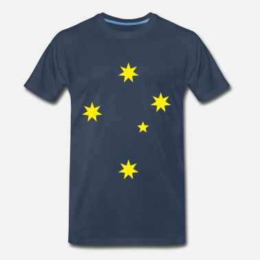Southern Aussie Green and Gold Southern Cross Tee - Men's Premium T-Shirt