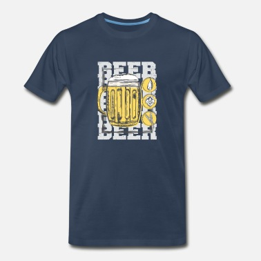 Masskrug Beer mug design with beer ingredients - Men's Premium T-Shirt