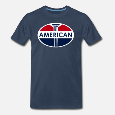 Automotive American Gas Station sign. Flat and clean version - Men's Premium T-Shirt