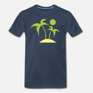 Theft tree on the beach - Men's Premium T-Shirt