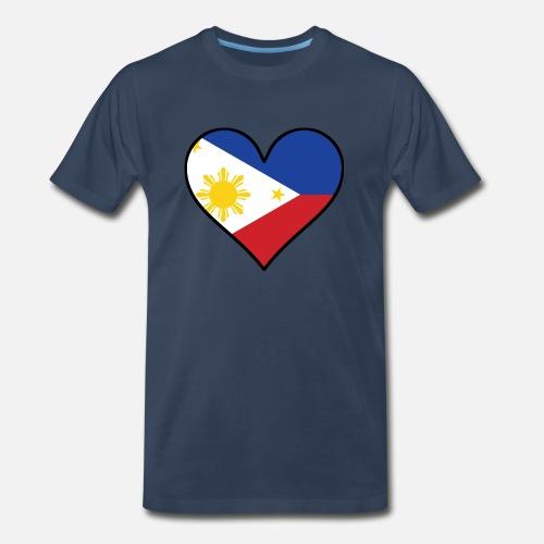 800fca9f70c Filipino Flag Heart Men s Premium T-Shirt