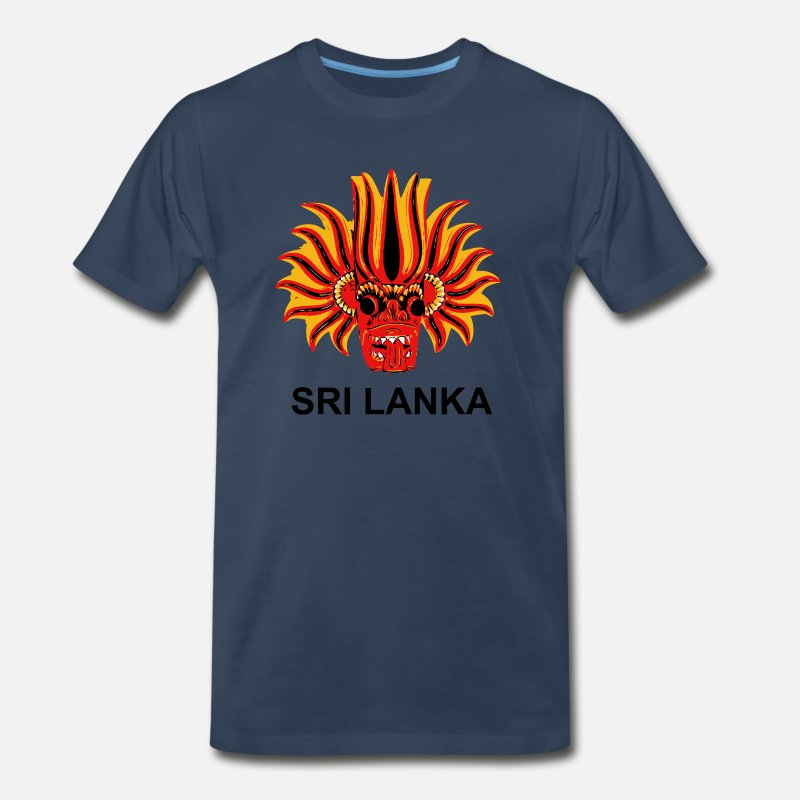 Sri Lanka T-Shirts - Sri Lanka Mask - Men's Premium T-Shirt navy