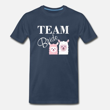 Dressing Team bride bachelorette llama saying gift - Men's Premium T-Shirt