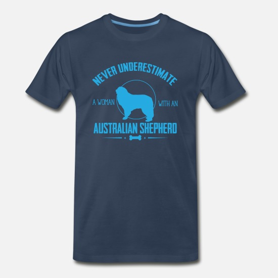 Australian Shepherd T-Shirts - Dog Australian Shepherd - Men's Premium T-Shirt navy