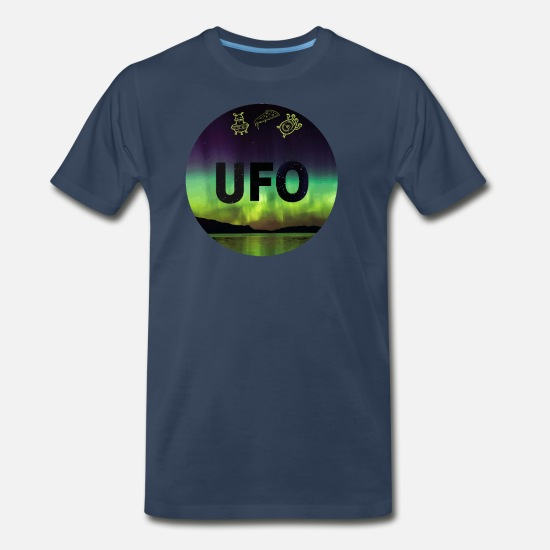 Illuminati T-Shirts - UFO Design - Men's Premium T-Shirt navy