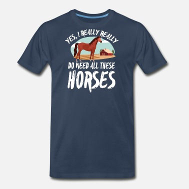 Horse Racing Horse Trainer T-Shirt - Men's Premium T-Shirt