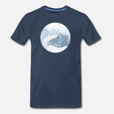 Wave Watercolor Waves - Men's Premium T-Shirt