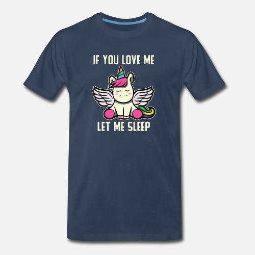 Funny Unicorn Meaning Cute Slumberer Girl Gift Men s Premium T-Shirt ... cba3fbbd9