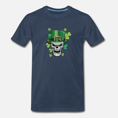 Green Lucky Parade Green Beer Skull Paddy Hat Shirt & Gift - Men's Premium T-Shirt