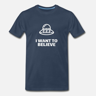 Area 51 I want to believe - Men's Premium T-Shirt