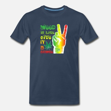 Marley Weed is love, give it a chance - Men's Premium T-Shirt