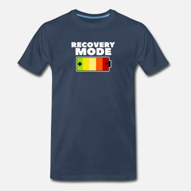 Hungover Recovery Mode Battery Low Gift Idea Recover - Men's Premium T-Shirt