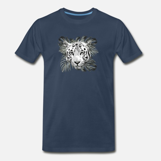 Amazing T-Shirts - Men's Thoughtful White Tiger - Men's Premium T-Shirt navy