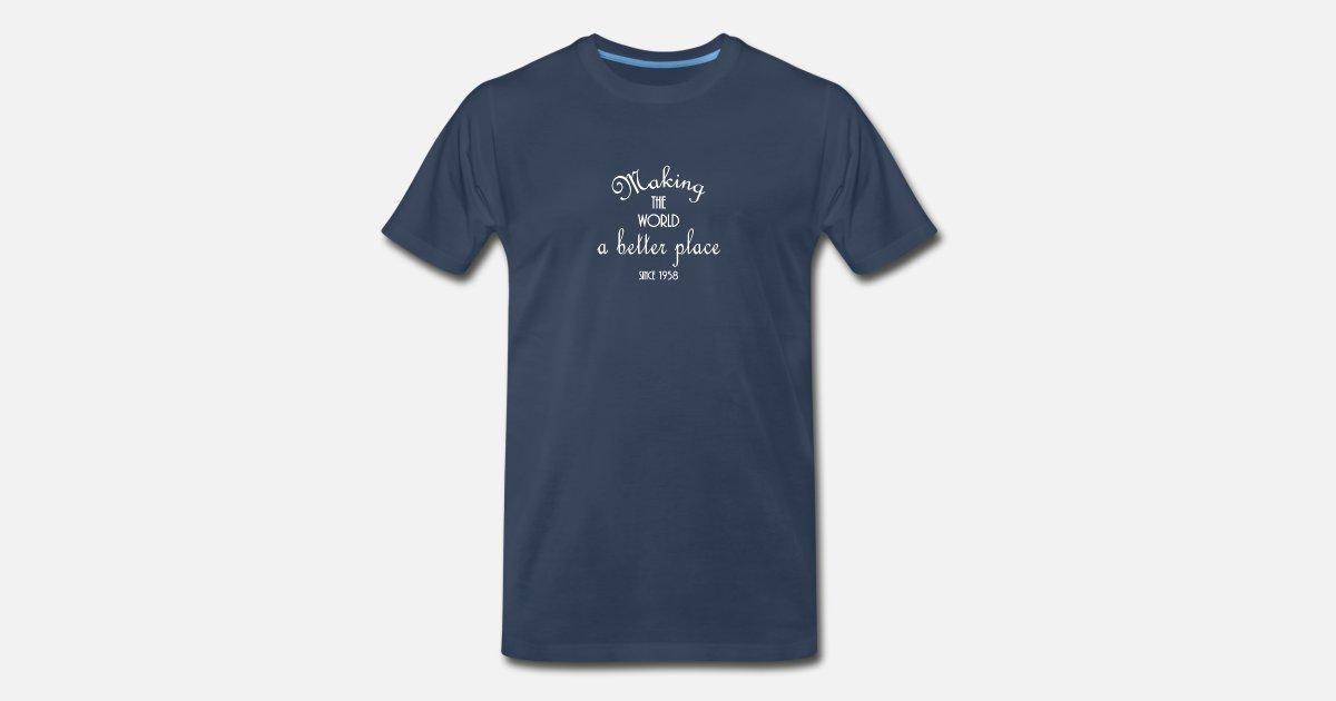 Womens 60th Birthday Gift Shirt 1958 For Women Turning 60 Years Old Mens Premium T