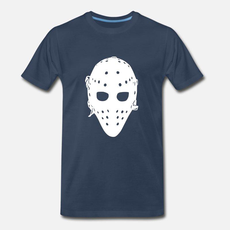 a0eb06f5b Goalie T-Shirts - Vintage Hockey Goalie Mask - Men s Premium T-Shirt navy