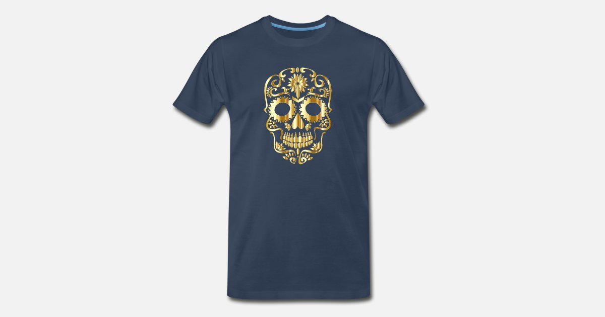 b590208ae753 DUBAI EDITION GOLD SKELETON Men's Premium T-Shirt | Spreadshirt